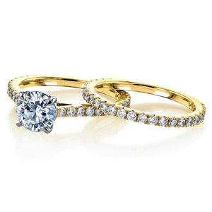 Kobelli 1ct Moissanite Peg Cathedral Gold Bridal Set MZ62640R-1ED/4.5Y