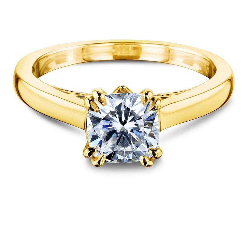Kobelli 1ct Cushion Moissanite Solitaire W-Prong Ring MZ62642CU-1E/4.5Y
