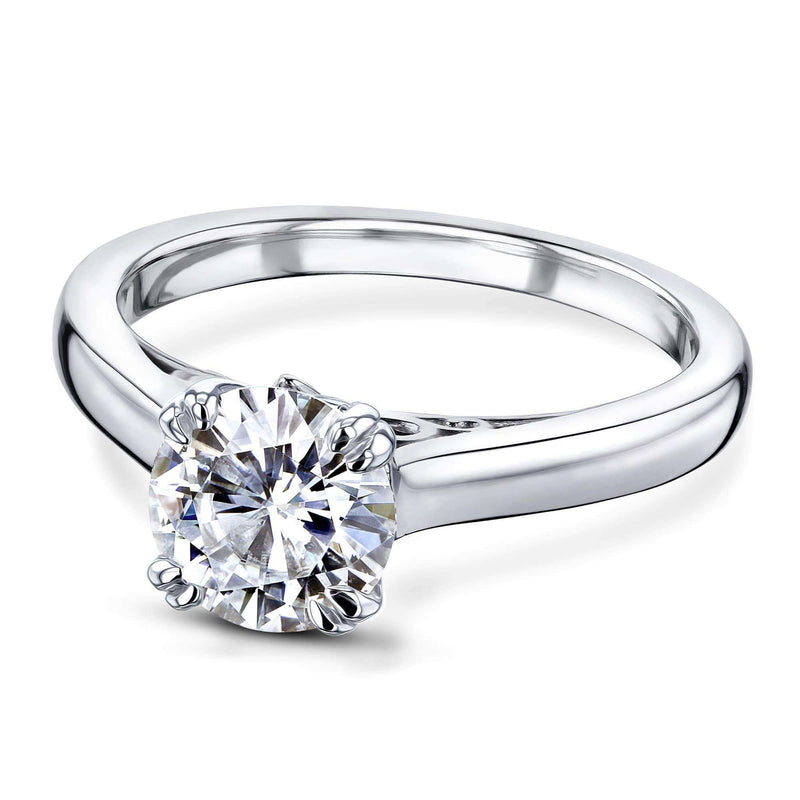 Kobelli 1ct Round Moissanite Solitaire W-Prong Ring