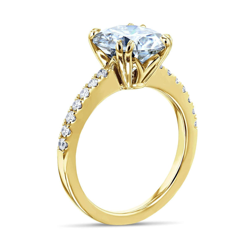 Kobelli 3.1ct Round Forever One Moissanite Ring 14k Gold