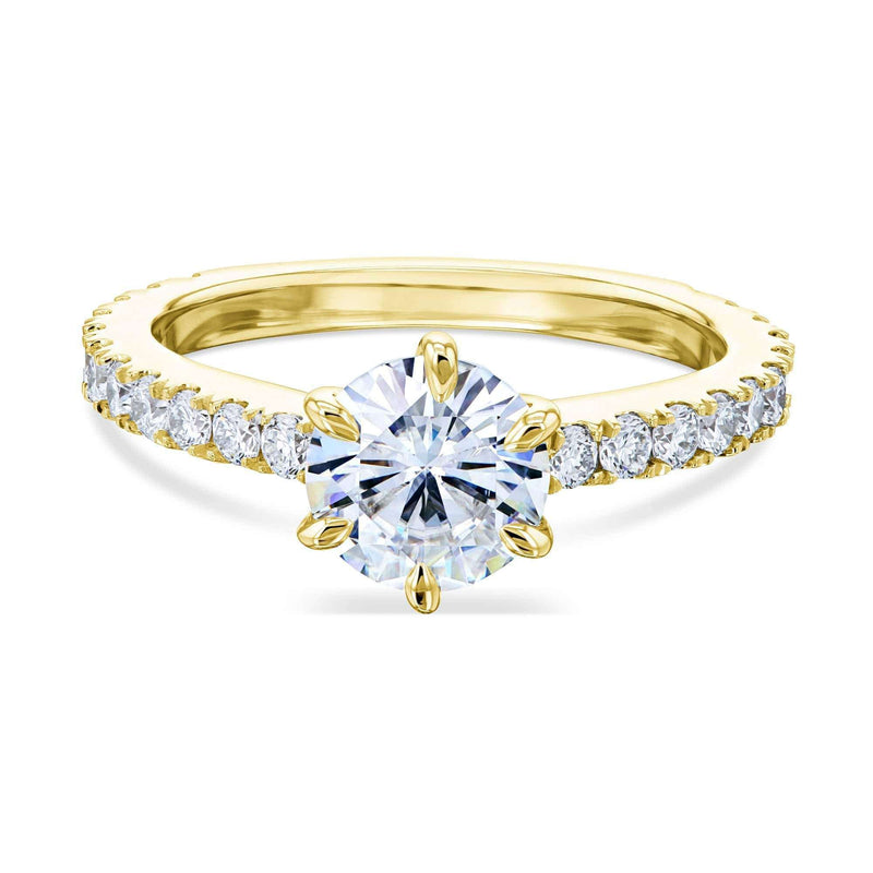 Kobelli 1ct Moissanite 6-Prong Ring Lab Diamond Band