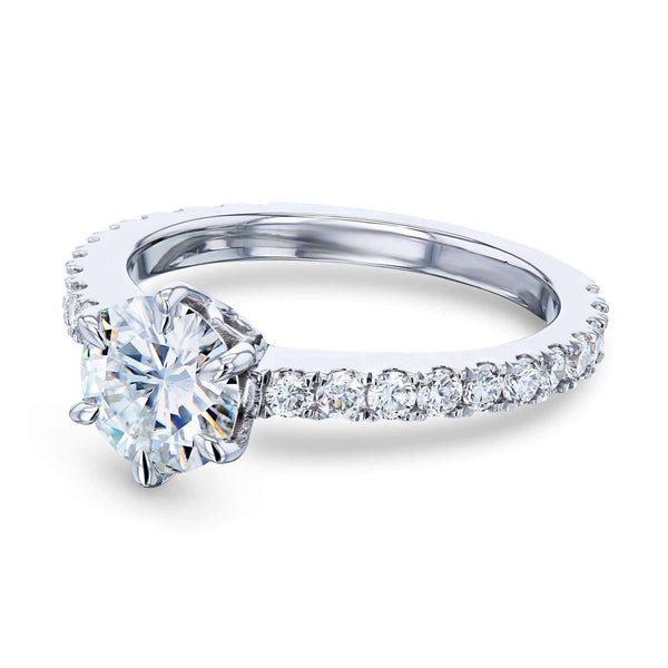 Kobelli 1ct Forever One Moissanite 6-Prong Ring Lab Diamond Band MZFO62714R-ELG/4.5W