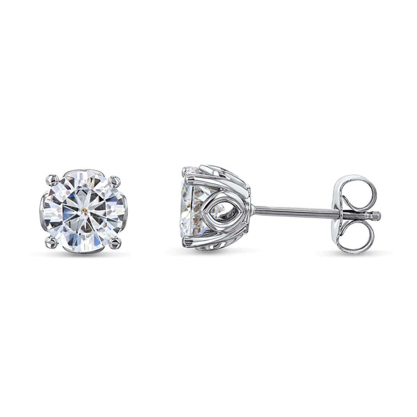 Kobelli Orchid 6.5mm Moissanite Studs 14k White Gold