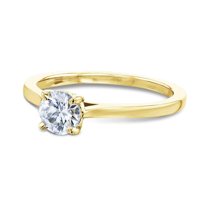 Kobelli 1/2ct Round Moissanite Solitaire Ring
