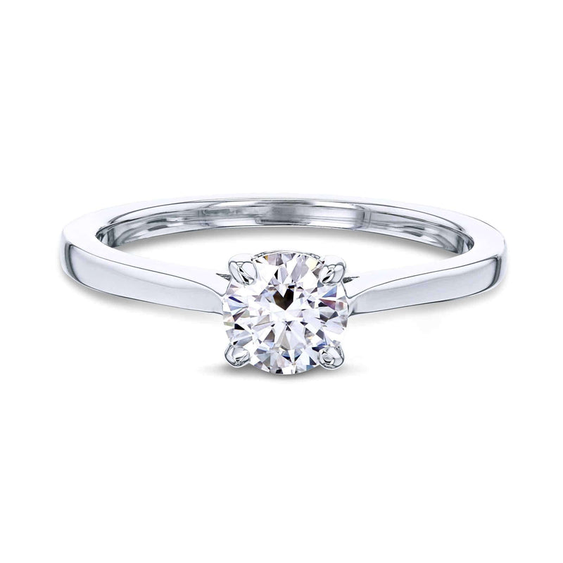 Kobelli 1/2ct Round Moissanite Solitaire Ring MZ62733R-50E/4W