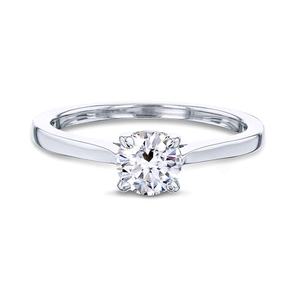 Kobelli 1/2ct Round Forever One Moissanite Solitaire Ring MZFO62733R-50E/4W