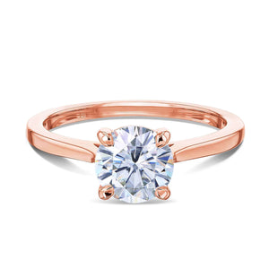 Kobelli 1ct Round Moissanite Solitaire Ring MZ62734R-1E/4R