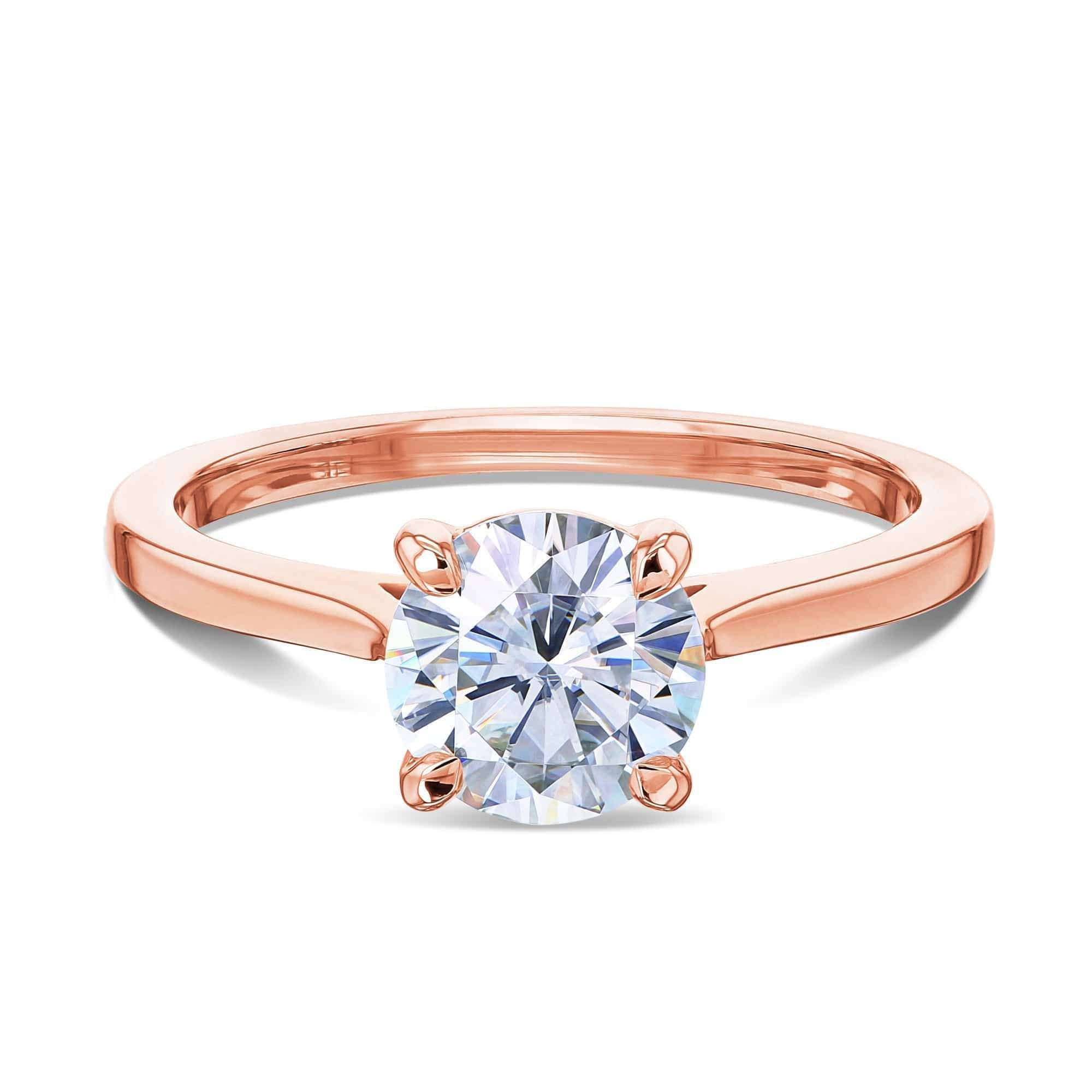 Reviews 1ct Round Forever One Moissanite Solitaire Ring - rose-gold 8.0