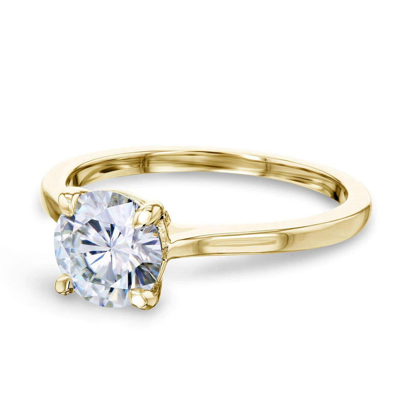 Kobelli 1ct Round Moissanite Solitaire Ring