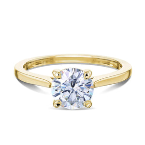 Kobelli 1ct Round Forever One Moissanite Solitaire Ring MZFO62734R-1E/4Y