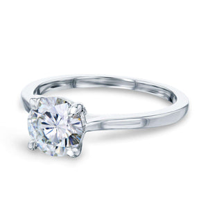Kobelli 1ct Round Forever One Moissanite Solitaire Ring