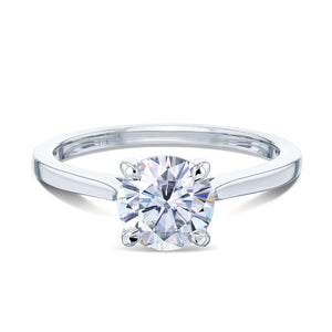 Kobelli 1ct Round Forever One Moissanite Solitaire Ring MZFO62734R-1E/4W