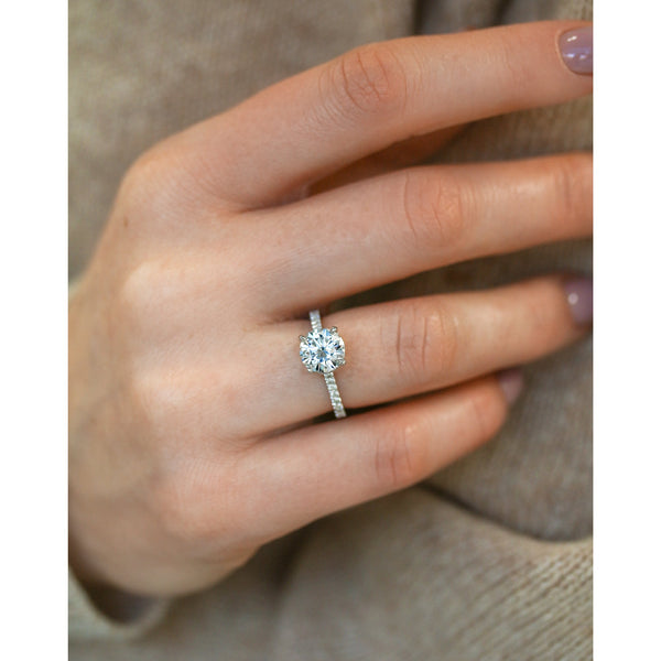 Kobelli 2ct Round Moissanite and 1/2ct TDW Lab Grown Diamond Engagement Ring