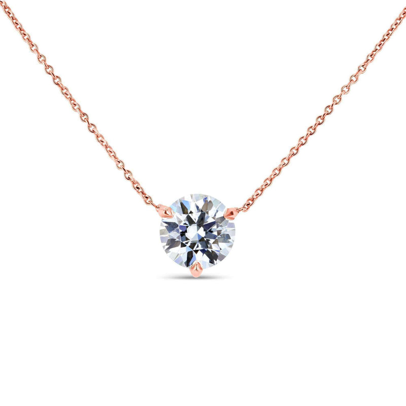 Kobelli 1.5ct Moissanite Solitaire 3-Prong Necklace MZ62777R-150/R