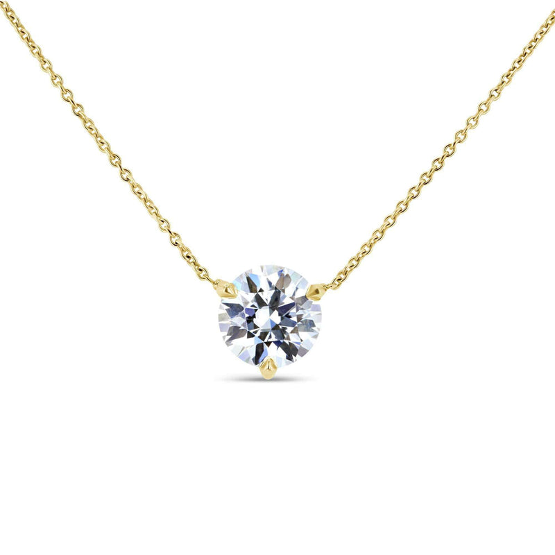 Kobelli 1.5ct Moissanite Solitaire 3-Prong Necklace MZ62777R-150/Y