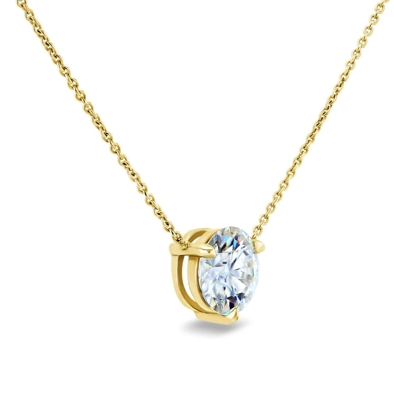 Kobelli 1.5ct Moissanite Solitaire 3-Prong Necklace