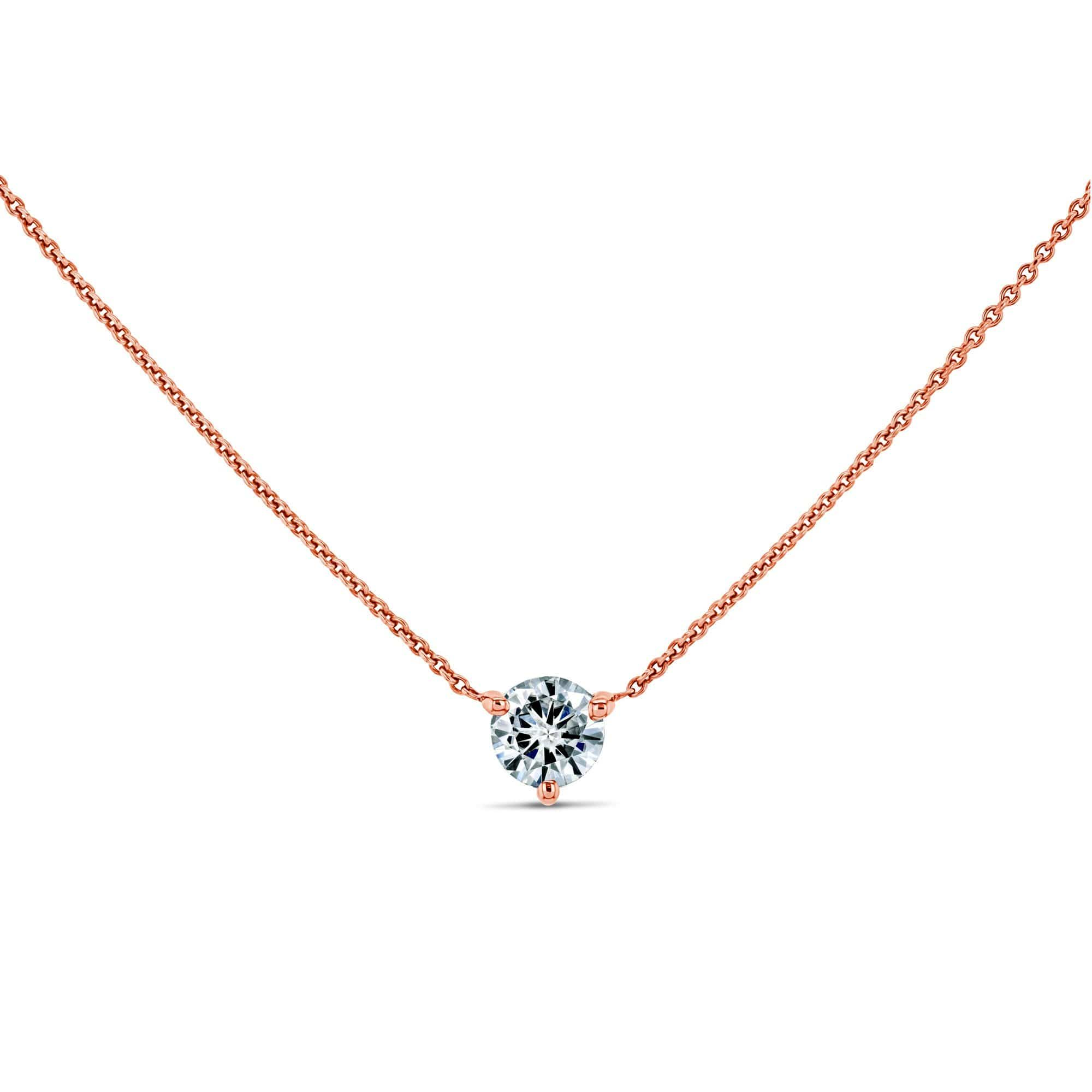 Discounts 0.5ct Moissanite Solitaire 3-Prong - rose-gold Kobelli H-I