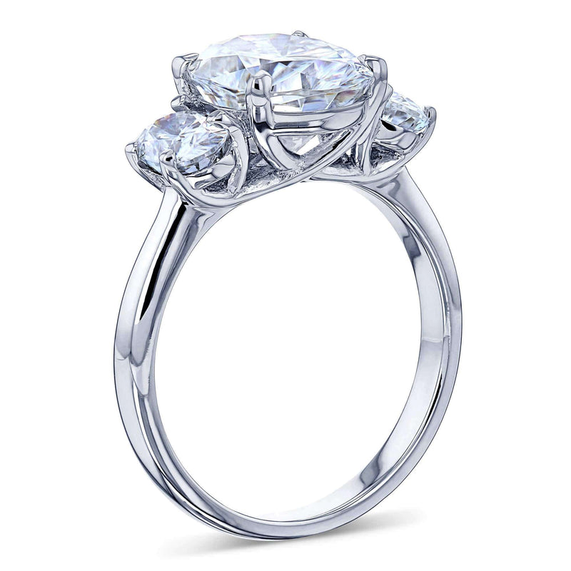 Kobelli The 3 Stone Trellis Oval Ring