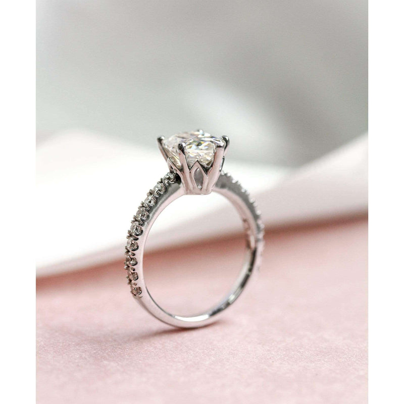 Kobelli 2.1ct Pear Moissanite Ring