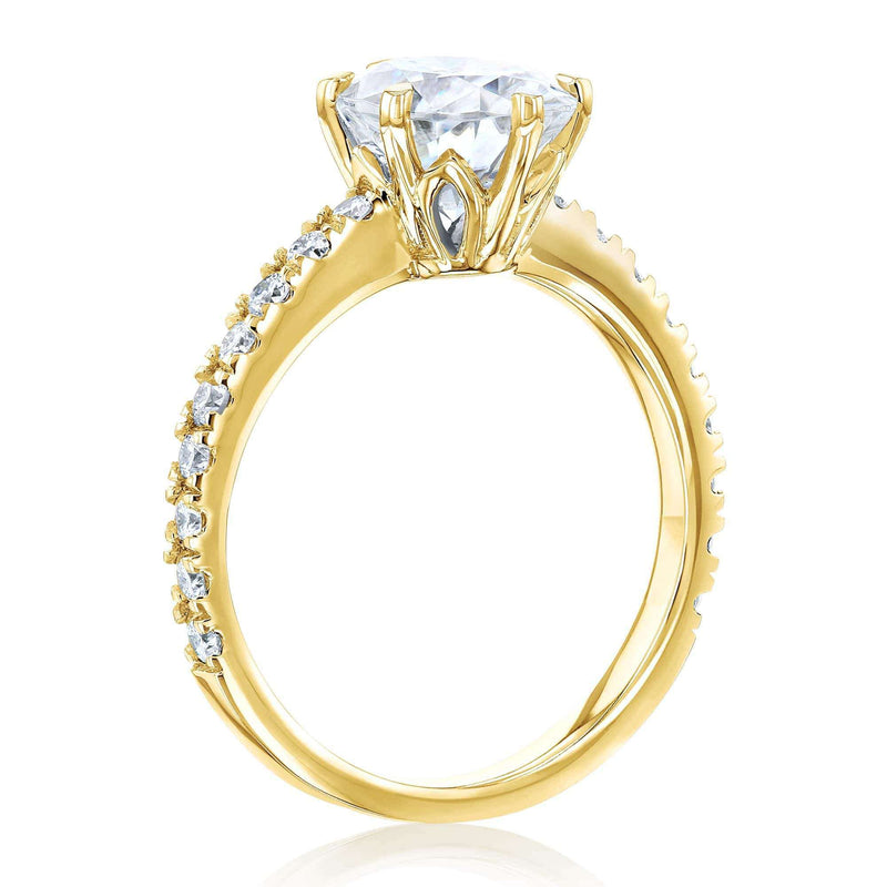 Kobelli 2.1ct Oval Moissanite Ring