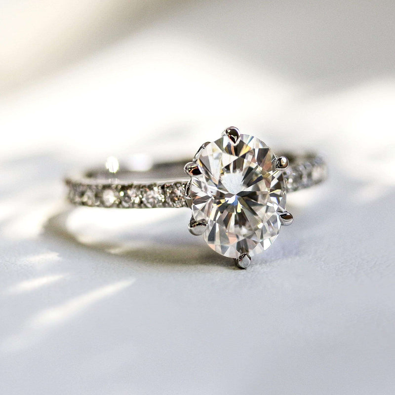 Kobelli 2.1ct Oval Forever One Moissanite Ring