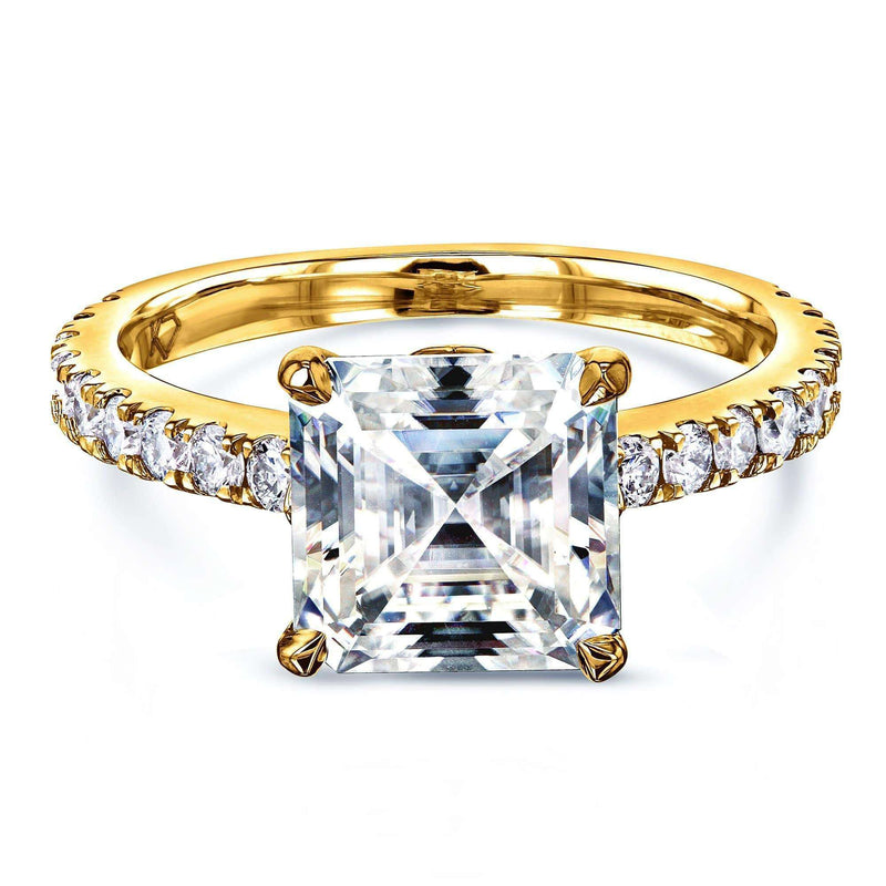 Kobelli 2.2ct Asscher Moissanite Ring MZ62796AS-E/4Y