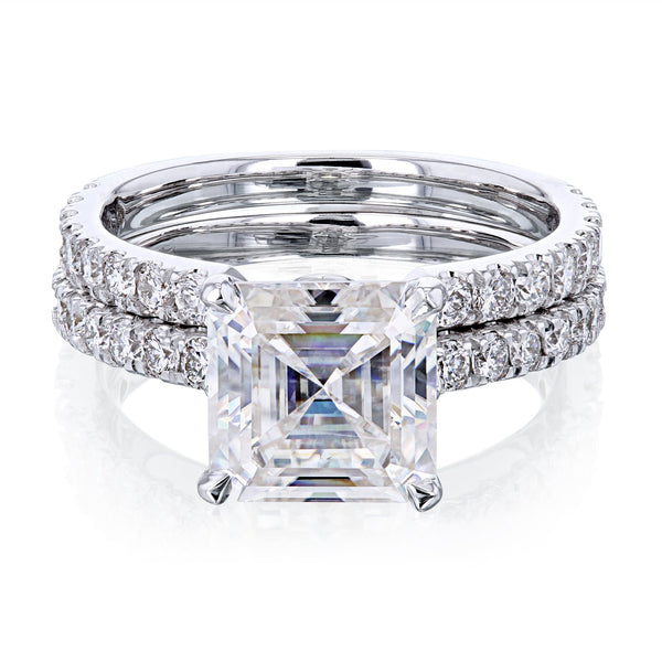 Kobelli 2.2ct Asscher Moissanite Bridal Set