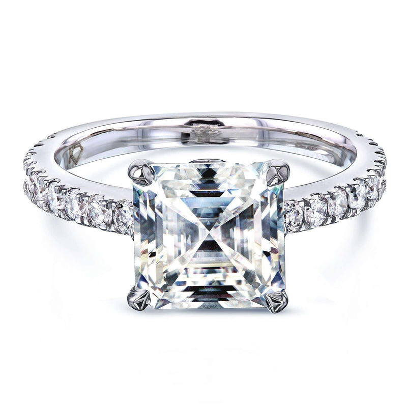 Kobelli 2.2ct Asscher Moissanite Ring MZ62796AS-E/4W