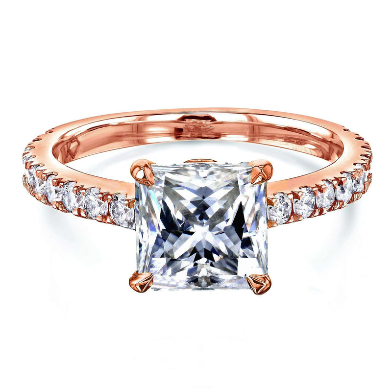 Kobelli 1.8ct Princess Moissanite Ring MZ62796P-E/4R