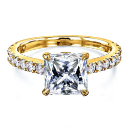 Kobelli 1.8ct Princess Moissanite Ring MZ62796P-E/4Y