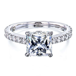 Kobelli 1.8ct Princess Moissanite Ring MZ62796P-E/4W