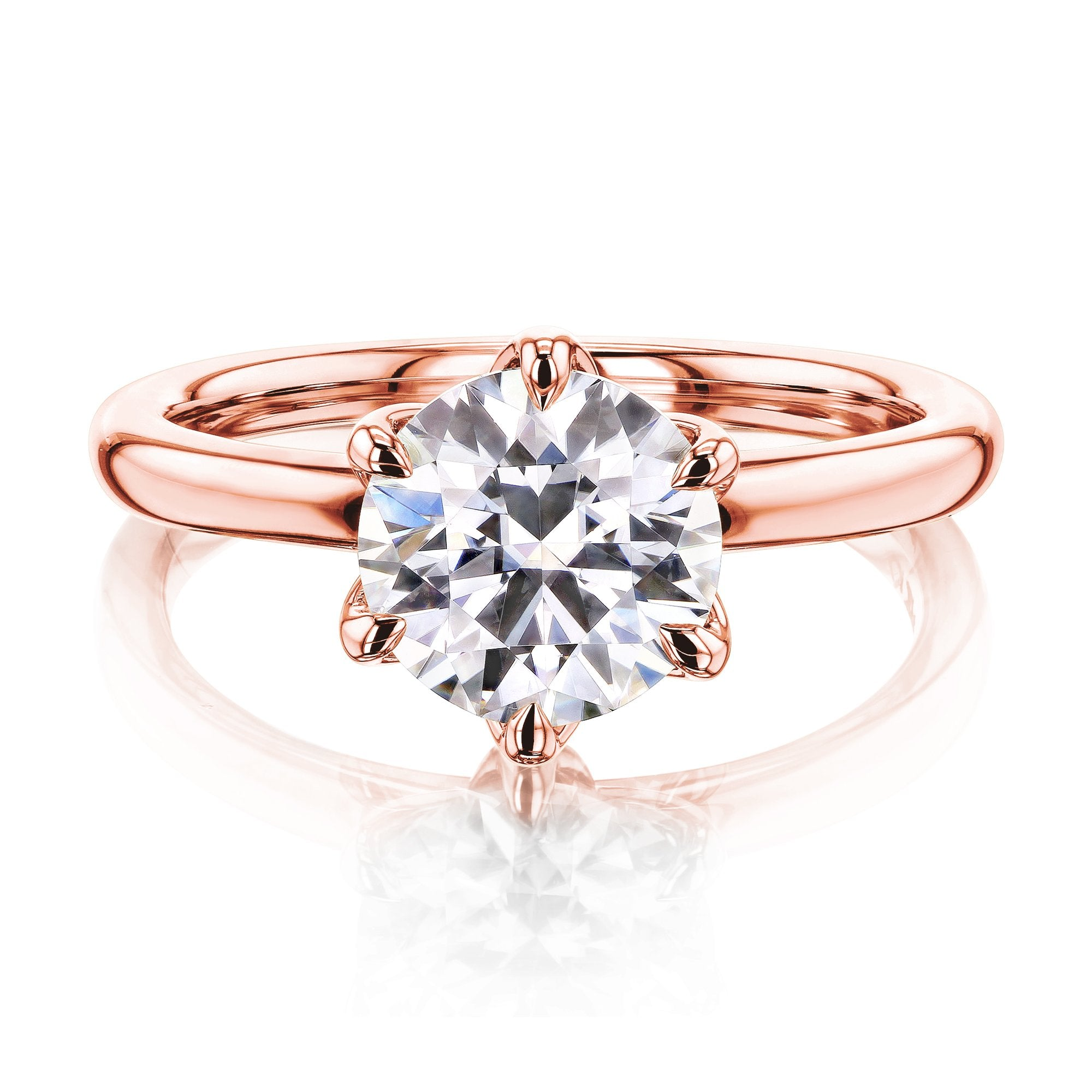 Compare 1.5ct Round Forever One Floating Tulip Comfort Fit - rose-gold 5.0