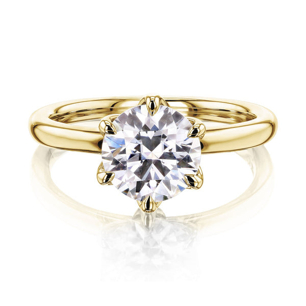 Kobelli 1.5ct Round Floating Tulip Comfort Fit Engagement Ring