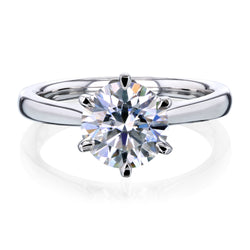 1.9ct Round Forever One Moissanite 6-Prong Ring