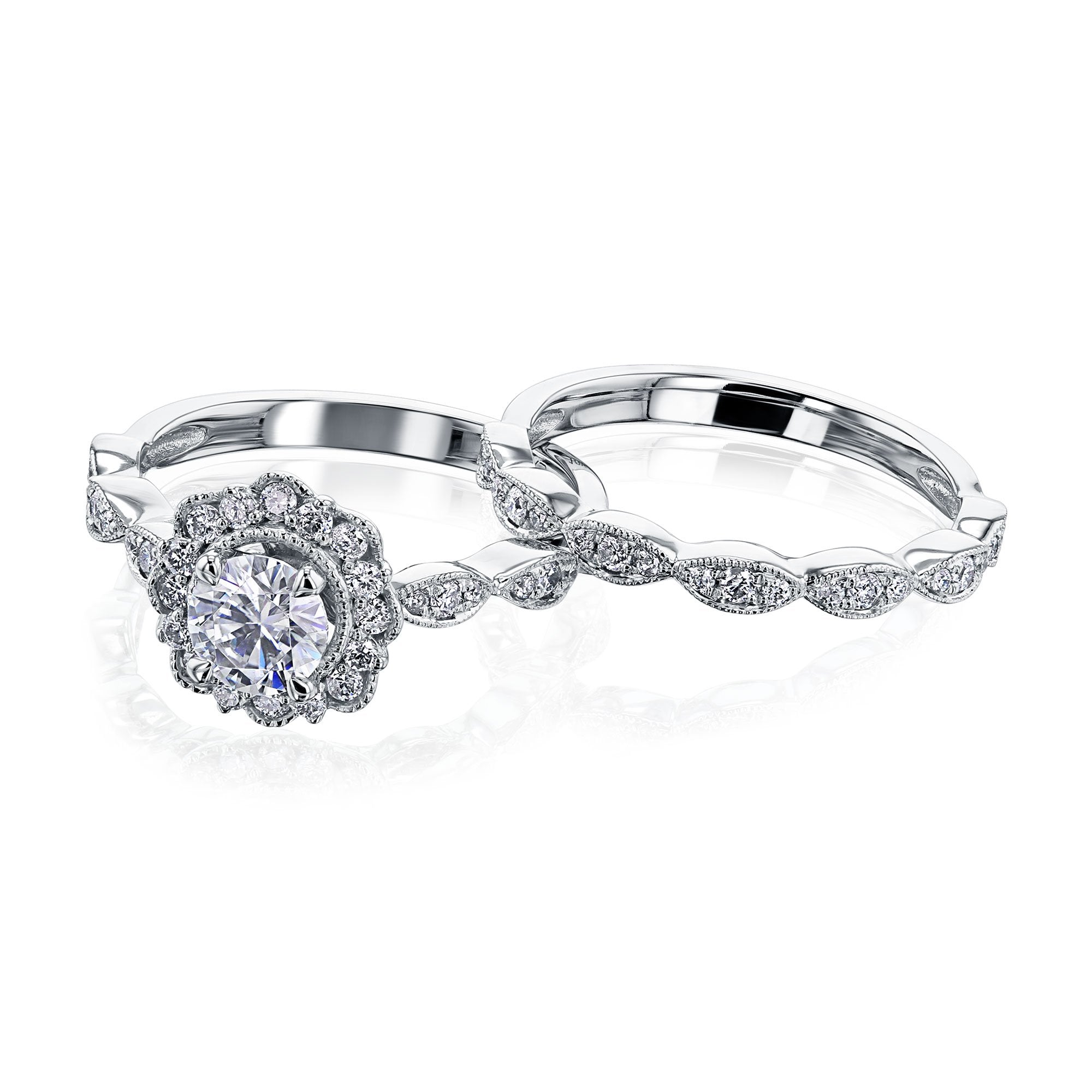 Discounts The Floral Spring Diamond Bridal Set - 5.5