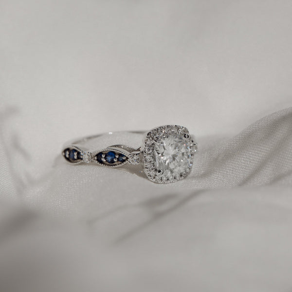 Kobelli 1 Carat Cushion Moissanite Engagement Ring