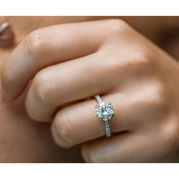 Kobelli Tulip Head Moissanite Engagement Ring 2 1/10 CTW 14k Gold (FG/VS, GH/I)