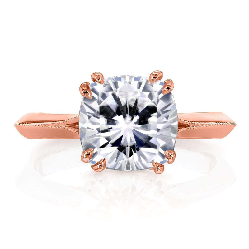 Kobelli Moissanite (DEF) and Diamond Engagement Ring 2 7/8ct TCW in 14k Rose Gold