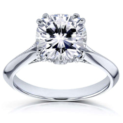 Kobelli Moissanite (DEF) and Diamond Engagement Ring 2 7/8ct TCW in 14k White Gold