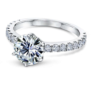 Kobelli 6-Prong 1.9ct Moissanite Ring MZ62701R-ELG/4.5W