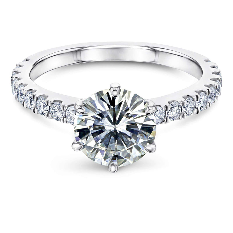 Kobelli 6-Prong 1.9ct Moissanite Ring