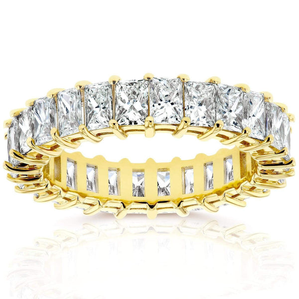 Kobelli Princess Baguette Diamond Eternity Band 4 7/8 CTW in 14K Yellow Gold 71204X_7.5