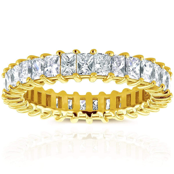 Kobelli Princess Baguette Diamond Eternity Band 3 7/8 CTW in 14K Yellow Gold 71203X_5.5