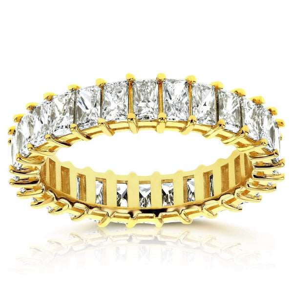 Kobelli Princess Baguette Diamond Eternity Band 4 7/8 CTW in 14K Yellow Gold 71200X_8.5