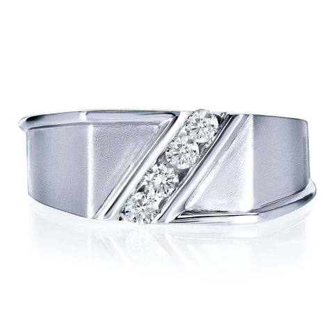 tension setting mens diamond ring