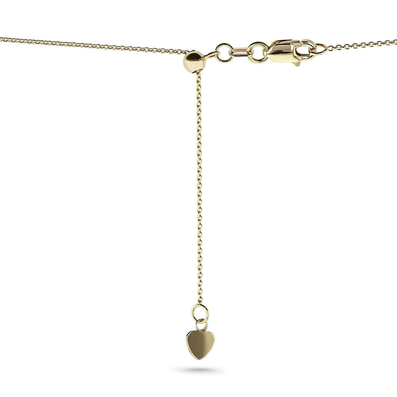 Kobelli 14k Gold Adjustable 18-Inch Chain 14KCB-SILICON18ADJ-Y