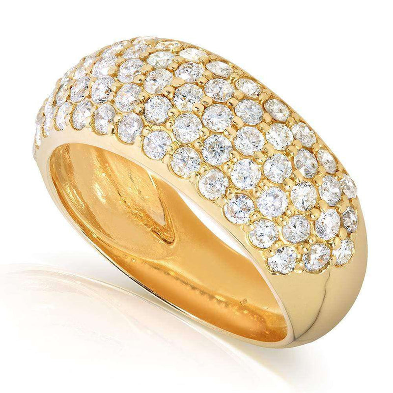 Kobelli Round-cut Diamond Band 1 1/4 carat (ctw) in 14K Yellow Gold