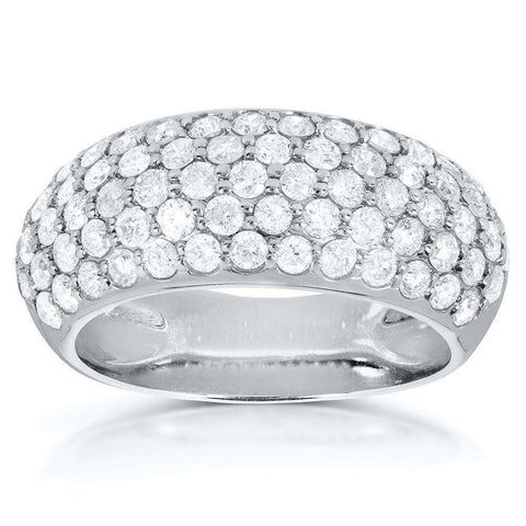 pave diamond fashion ring in platinum