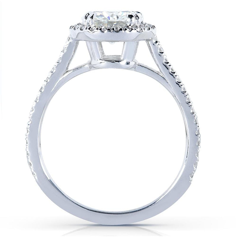 Kobelli Round-cut  Diamond Halo Engagement Ring 1 1/4 Carat (ctw) in 14k White Gold