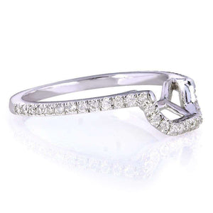 Kobelli Contoured Diamond Wedding Band 1/5 Carat (ctw) in 14k White Gold